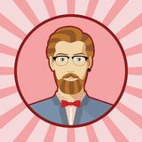 Single vector male avatar. Stock Image