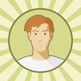 Single vector man avatar. Stock Images