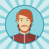 Single vector man avatar. Royalty Free Stock Photos