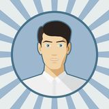 Single vector man avatar. Royalty Free Stock Image