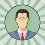 Single vector man avatar. Stock Photography