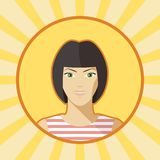 Single vector woman avatar. Stock Image