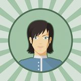Single vector woman avatar. Stock Photography