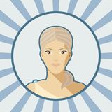 Single vector woman avatar. Royalty Free Stock Images