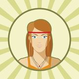 Single vector woman avatar. Stock Photo