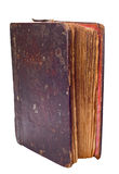 Single Very Old Book On White Royalty Free Stock Photography