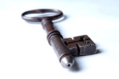 Single Victorian Vintage Mortice Key Stock Photography