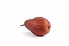 Single vinous pear on white. Single vinous pear  on white background Stock Images