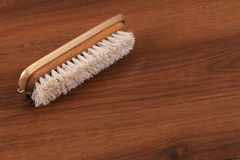 The Single Vintage Hair Brush on the wood Royalty Free Stock Photos