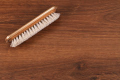 The Single Vintage Hair Brush on the wood Royalty Free Stock Images