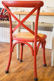 Single vintage red kitchen chair Stock Images