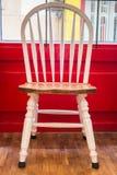Single vintage white kitchen chair Royalty Free Stock Photo