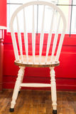 Single vintage white kitchen chair Royalty Free Stock Images