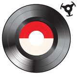Single vinyl Stock Photography