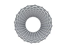 Single-walled carbon nanotube, front view Royalty Free Stock Images