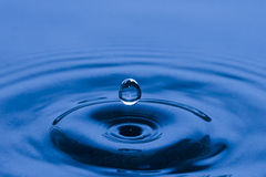 Single Water drop in the air Royalty Free Stock Images