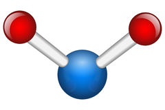 Single Water H2O molecule Royalty Free Stock Image