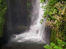 Single waterfall in cuban rondo indonesia. I took this photo on cuban rondo indonesia Royalty Free Stock Image