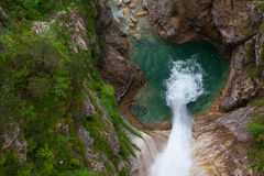 Free Single Waterfall Shot From Above Royalty Free Stock Images - 34910369