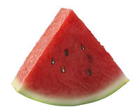 Single watermelon piece isolated on white Stock Images