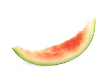 Single watermelon rind isolated. Over the white background stock photo
