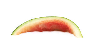 Single watermelon rind isolated. Over the white background stock photography