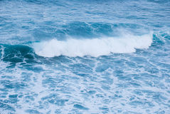 A single wave, the atmosphere of power, activity and Royalty Free Stock Photo