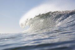 Single wave crest at line up Royalty Free Stock Image