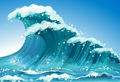 Single wave. Illustration of a single wave Stock Photo