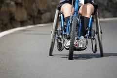 Single wheelchair athlete Stock Photography