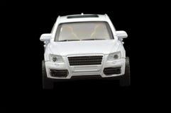 Single white car. On black background Stock Photos