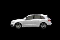 Single white car. On black background Stock Photography