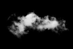 Single white cloud isolated on black. Background Stock Images