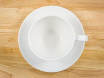 Single white cup coffee Royalty Free Stock Images