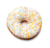 White Donut with sugar sprinkles Royalty Free Stock Photography