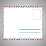 Single white Envelope Front stock illustration