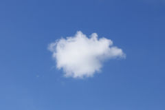 Single White Fluffy Cumulus Cloud Royalty Free Stock Photography