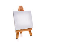 Single white painting canvas Stock Images