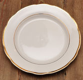 Single white plate Royalty Free Stock Image