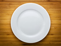 Single white plate Stock Photography