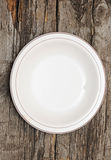 Single white plate Royalty Free Stock Images