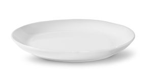 Single White Porcelain Plate Royalty Free Stock Images