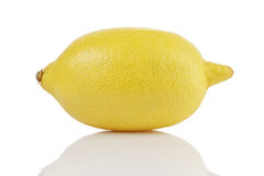 Single whole ripe lemon Stock Photos