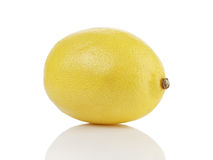 Single whole ripe lemon Royalty Free Stock Image