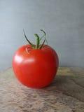 Single Whole Vine-Ripe Tomato Stock Photo