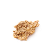 Single wholegrain cereal flake isolated. Over the white background Stock Photo