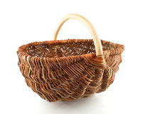 Single  willow basket Stock Image