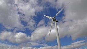Single wind generator  time lapse stock video footage