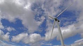 Single wind generator  time lapse stock video