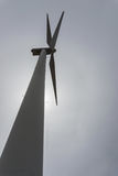 Single wind turbine from below Stock Photos